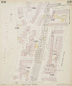 Map Of North East London.Insurance Plan Of London North North East District Vol E Sheet 21